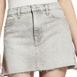 Hudson • Vivid Denim Raw Edge Mini Skirt NWT